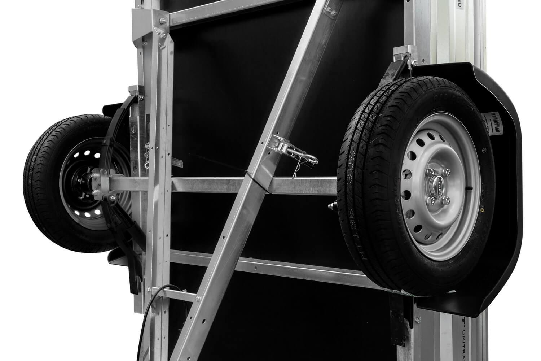 remorque 500kg avec ridelle arrière pliable