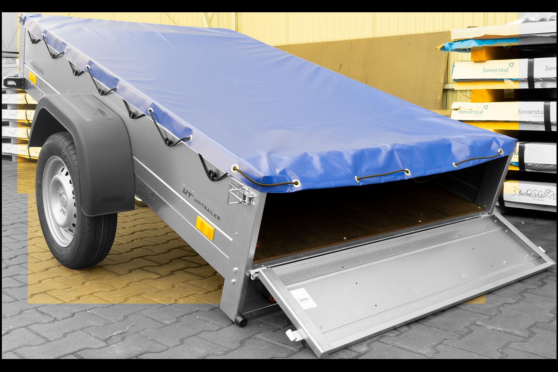 Szeroka przyczepa jednoosiowa z kołem podporowym GARDEN TRAILER 201 KIPP